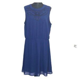 Maison Jules Laser cut fit & flare dress